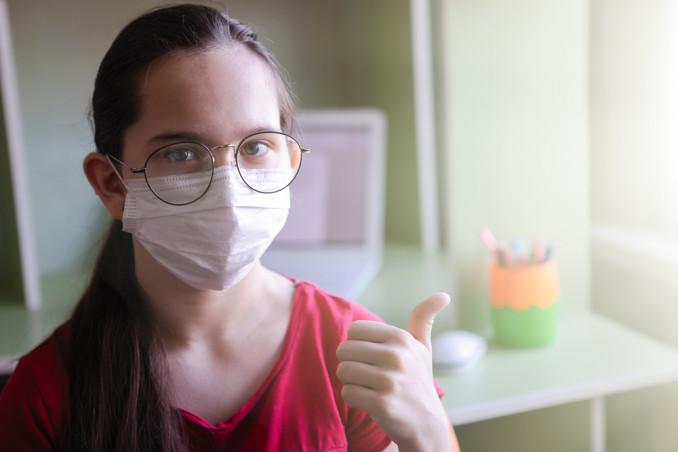 mascherina per occhiali