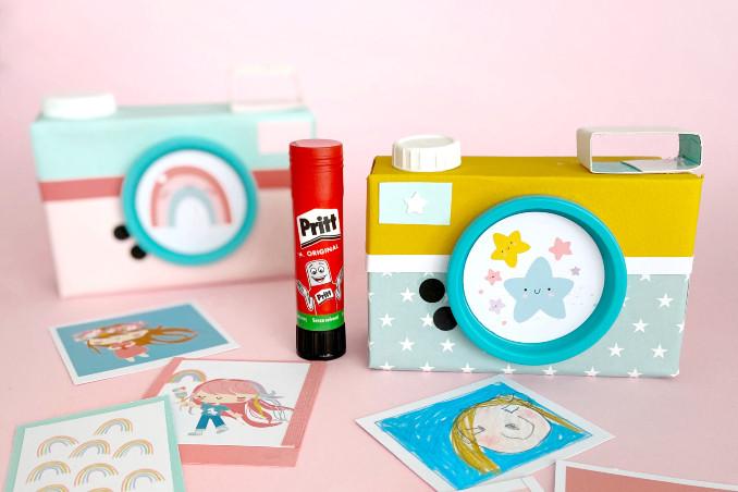 Macchine fotografiche giocattolo fatte in casa, con Pinkfrilly!