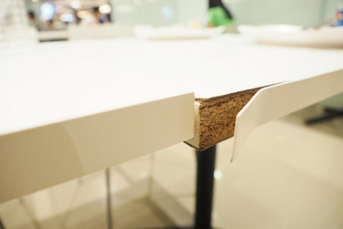 tavolo scollato, tavolo vetro scollato, tavolo legno scollato