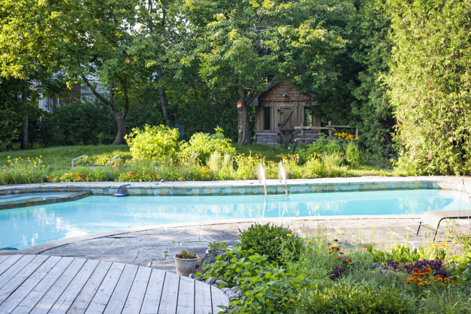 arredamento, giardino, piscina