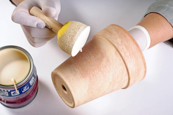 come decorare vaso decoupage, come decorare vaso