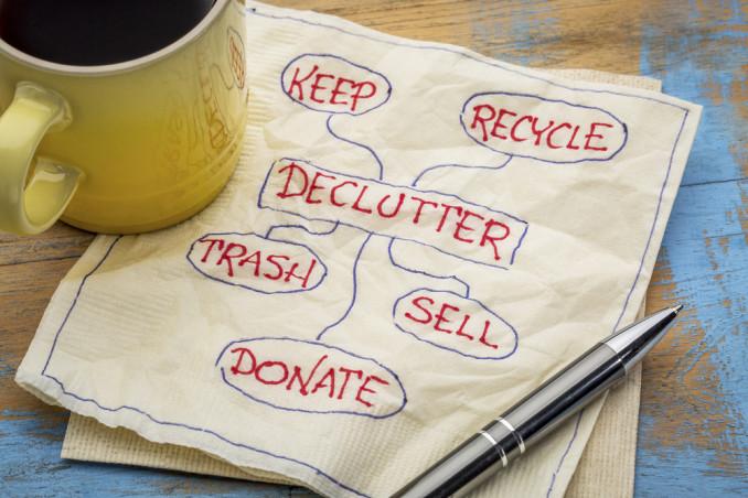 decluttering significato, decluttering come si fa