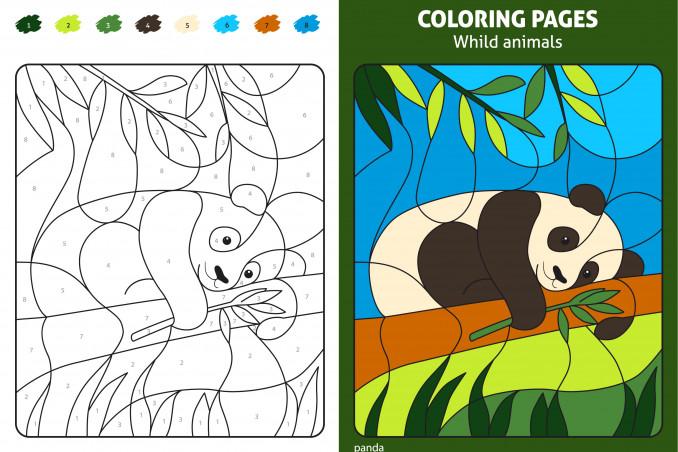 Disegni Da Colorare E Stampare Con I Numeri.Disegni Da Colorare Con I Numeri 9 Immagini Gratis Da Stampare Donnad