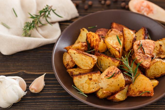patate, forno, pangrattato