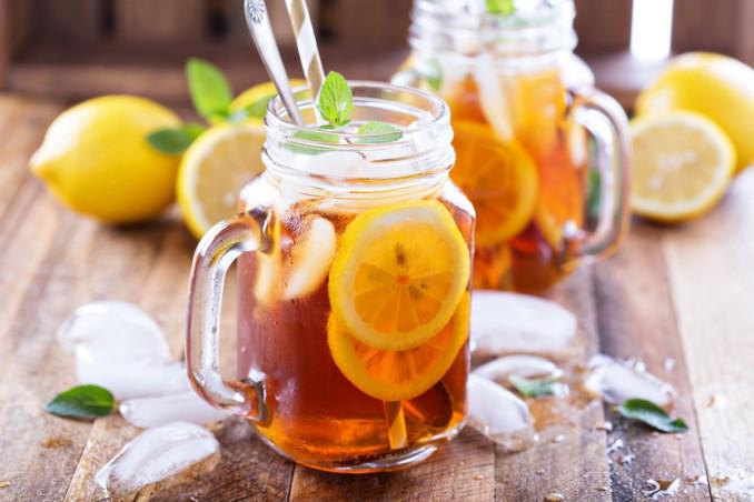 tè freddo limone, bibite, fatto in casa
