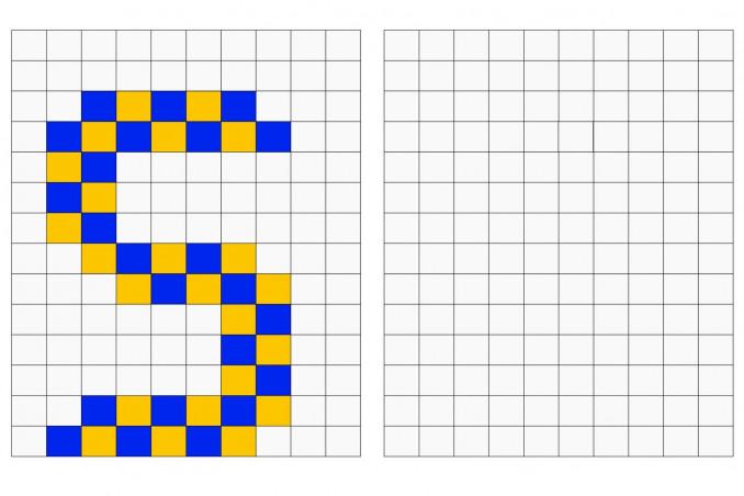 pixel art lettere, schemi pixel art lettere