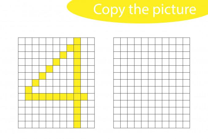 pixel art numeri, schemi pixel art