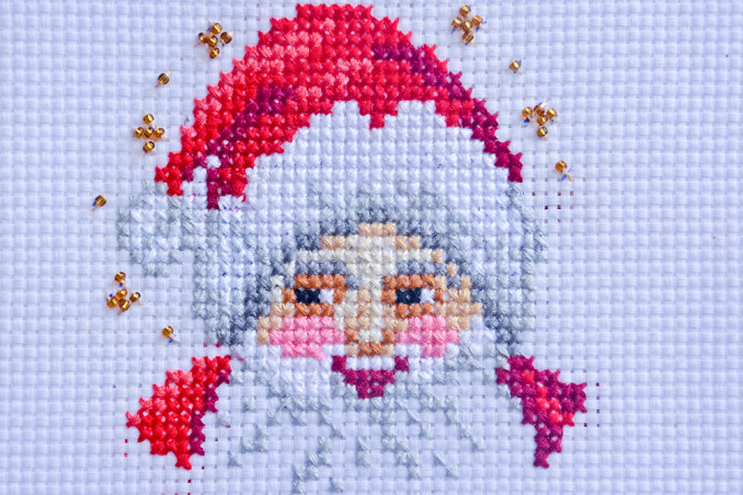 Babbo Natale Punto Croce.Punto Croce Babbo Natale 7 Schemi Gratis Donnad