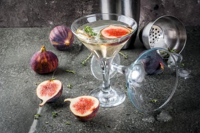 fig martini, ricette cocktail, fichi freschi