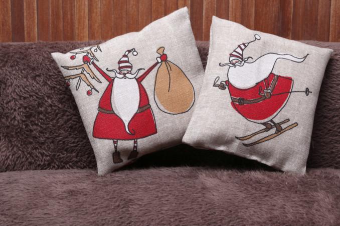 cuscini natalizi fai da te, cuscini natale fai da te, cuscini decoupage