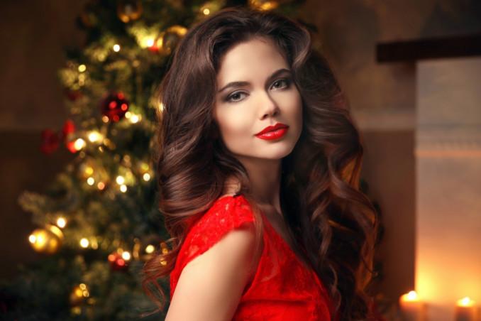 acconciature glamour, Natale 2020, capelli