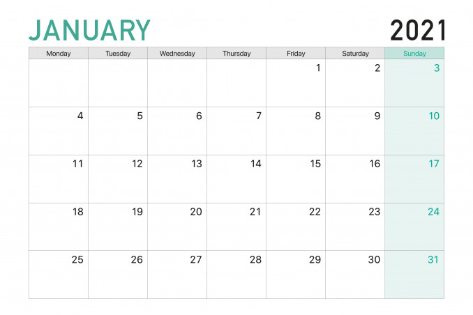 calendario 2021 da stampare mese per mese, calendario 2021 da stampare