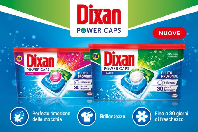 Nuove Dixan Power Caps: pulizia impeccabile, extra brillantezza ed extra freschezza per i tuoi capi