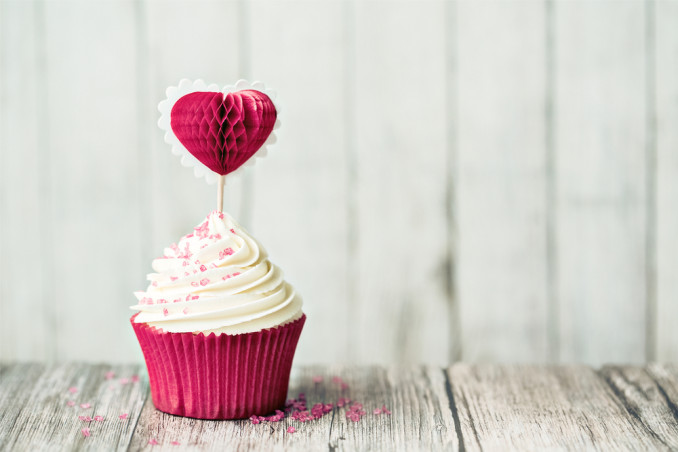 cupcake san valentino decorazioni, cupcake san valentino