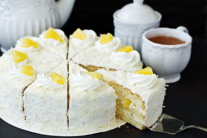torte decorate panna cocco, torte decorate panna, torte decorate cocco