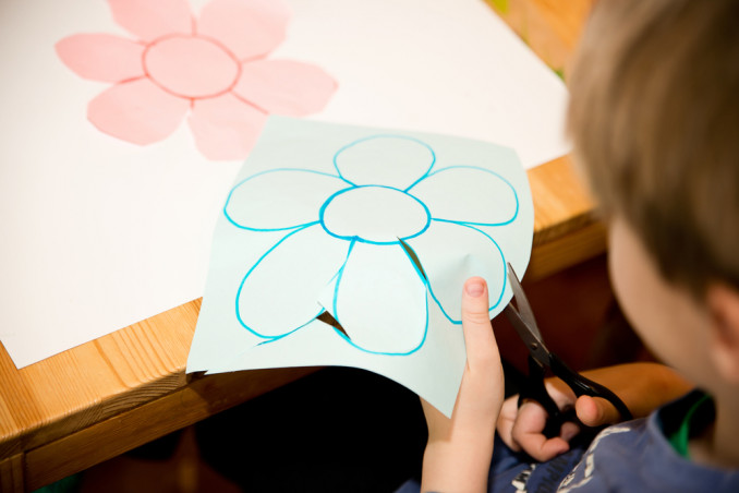 fiori carta esperimento