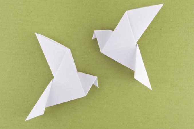colomba pasqua origami