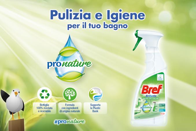 Bref Brillante Anti-Calcare Bagno ProNature: pulizia e freschezza per il tuo bagno e basso impatto ambientale