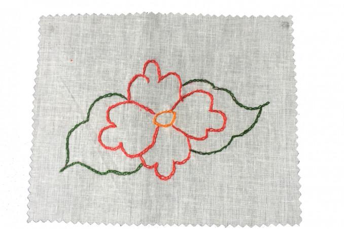fiori da ricamare a punto catenella, schemi punto catenella, disegni punto catenella