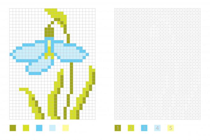 pixel art fiori facili, pixel art fiori, coding fiori facili