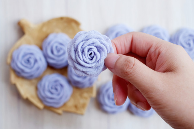 vaso fiori tessuto