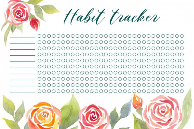 tracker abitudini da stampare gratis, tracker abitudini
