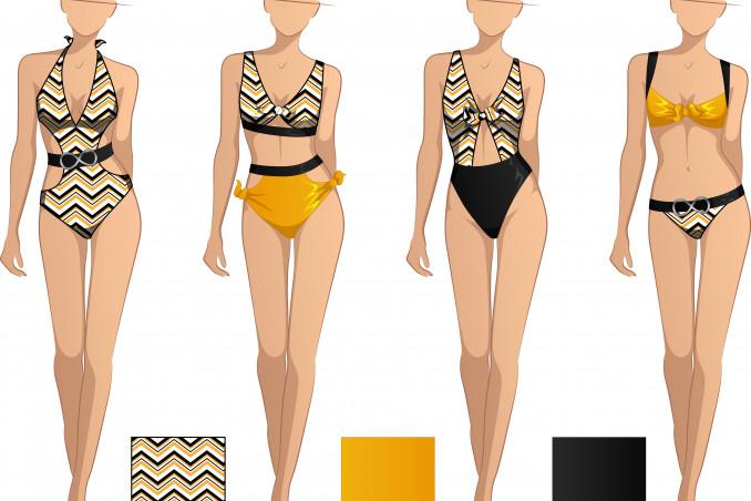 come trasformare costume intero in due pezzi, modificare costume da bagno