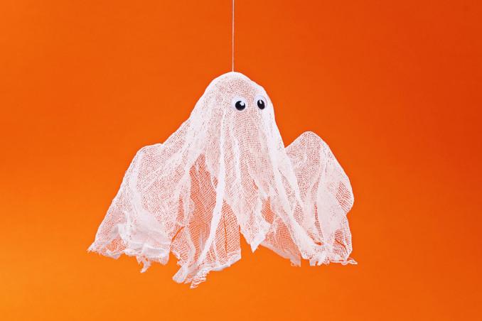fantasmini halloween fai da te, fantasmini fai da te